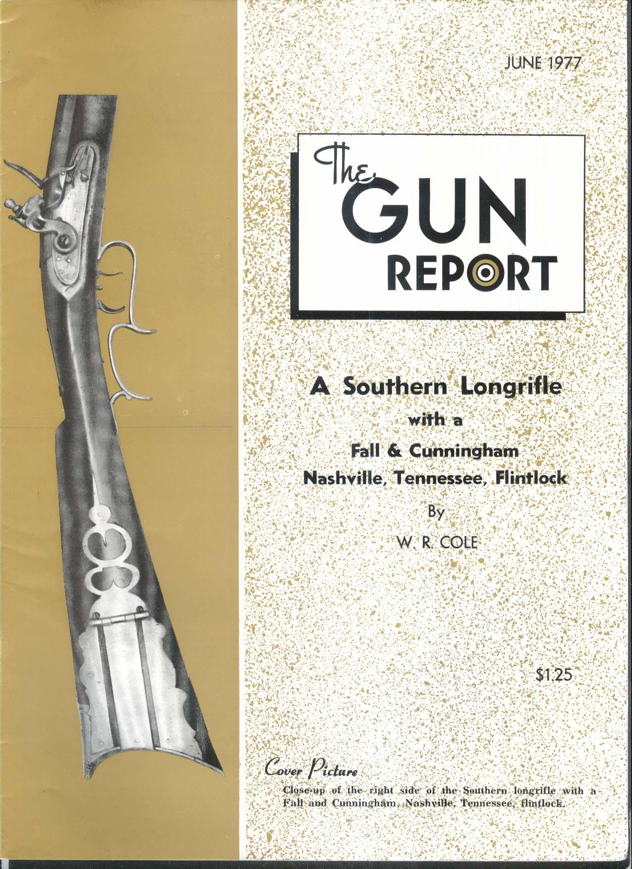 GUN REPORT Fall Cunningham Nashville Flintlock Southern Longrifle 6 1977