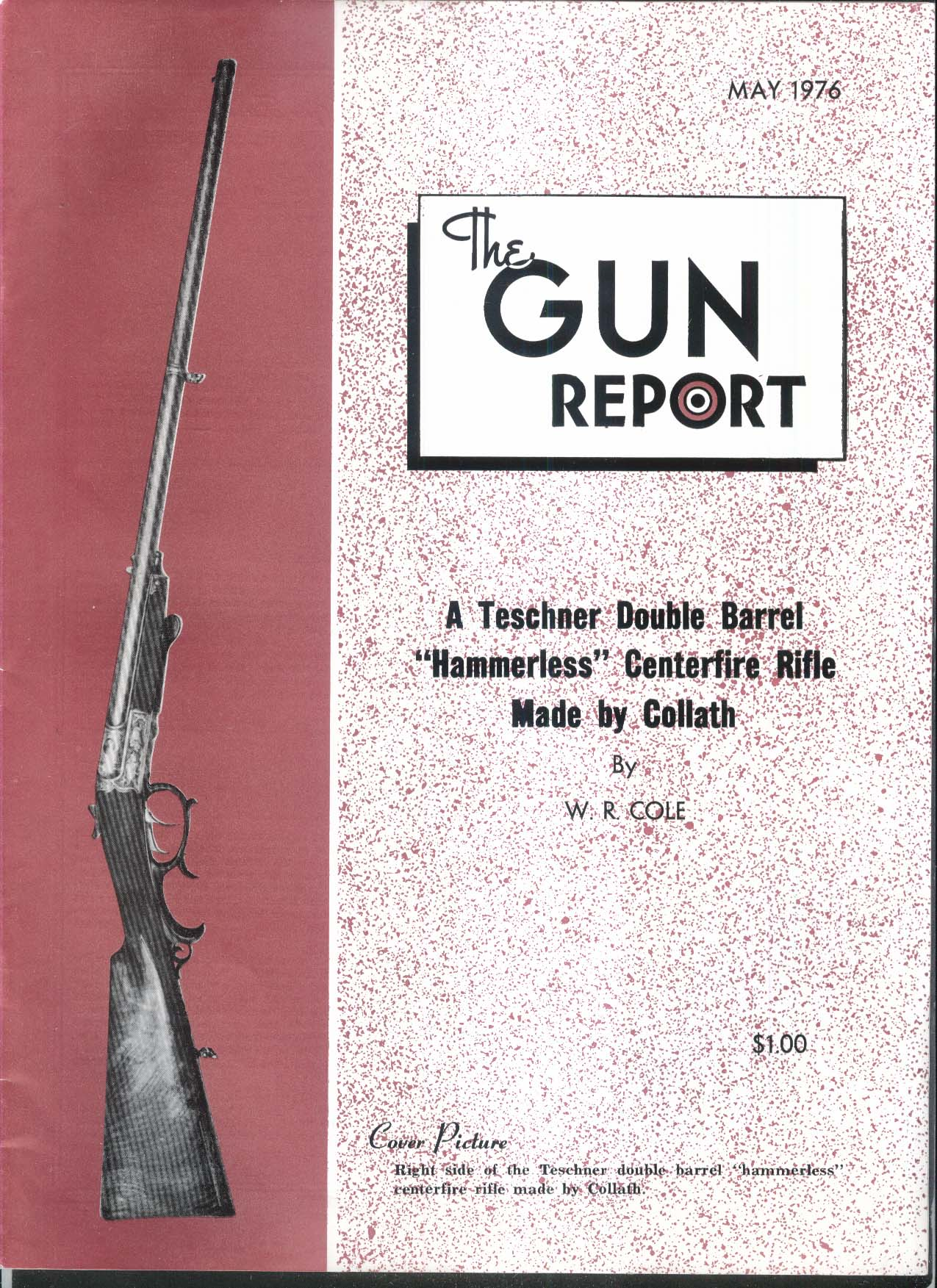 GUN REPORT Teschner Double Barrel Hammerless Rifle Collath 5 1976
