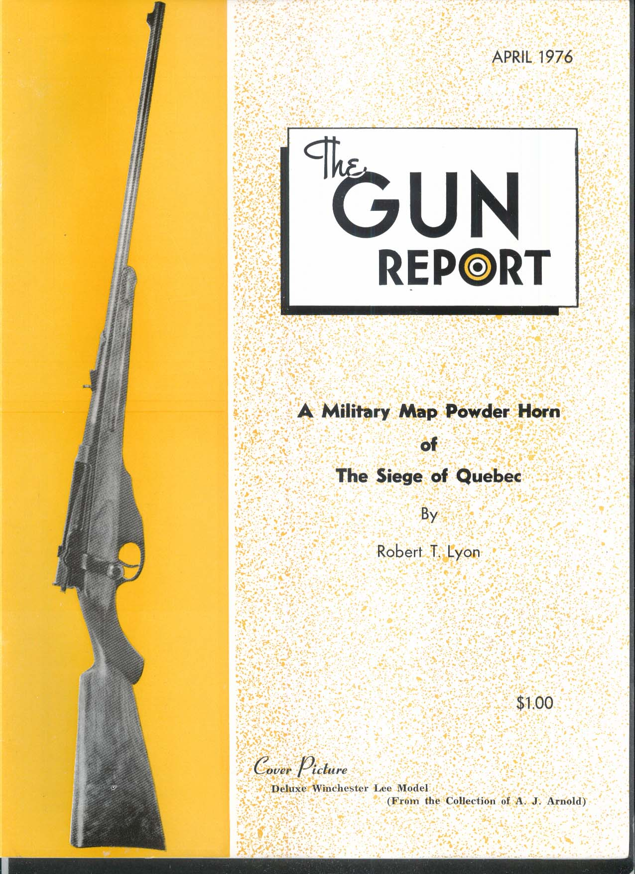 GUN REPORT Deluxe Winchester Lee Model Siege of Quebec 4 1976