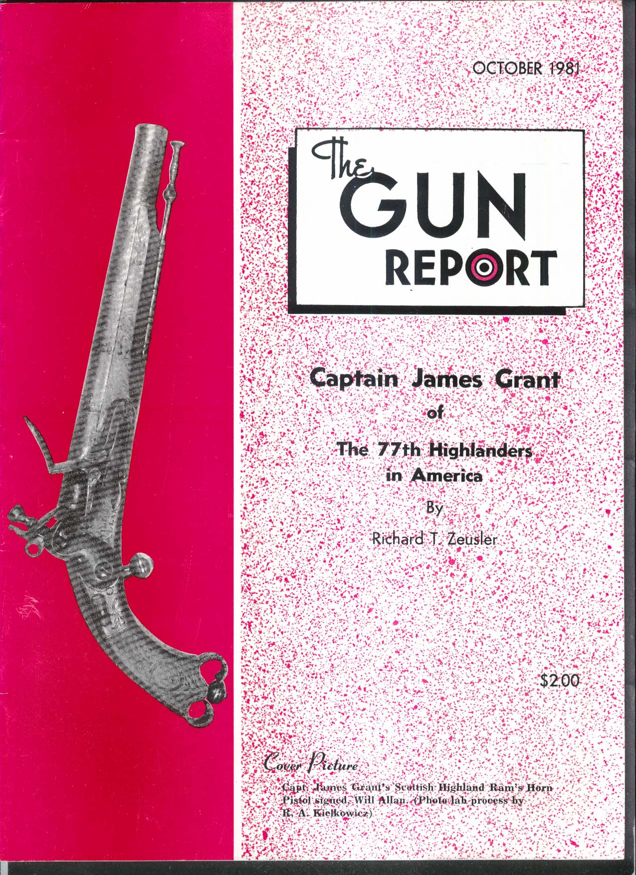 GUN REPORT Captain James Grant Highlanders Pistol Finnish Military 10 1981
