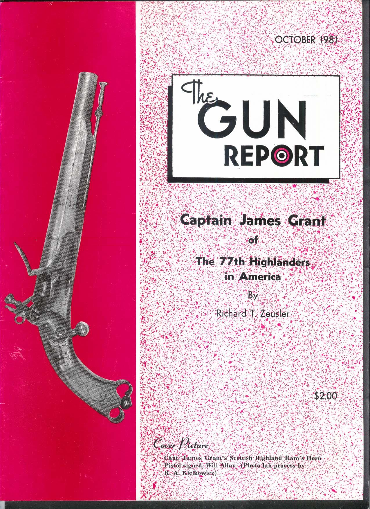 GUN REPORT Captain James Grant Highlanders Pistol Finnish Military 10 1981