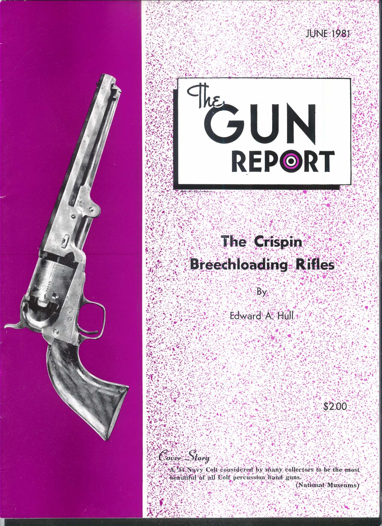 GUN REPORT Crispin Breechloading Rifles Navy Colt 6 1981