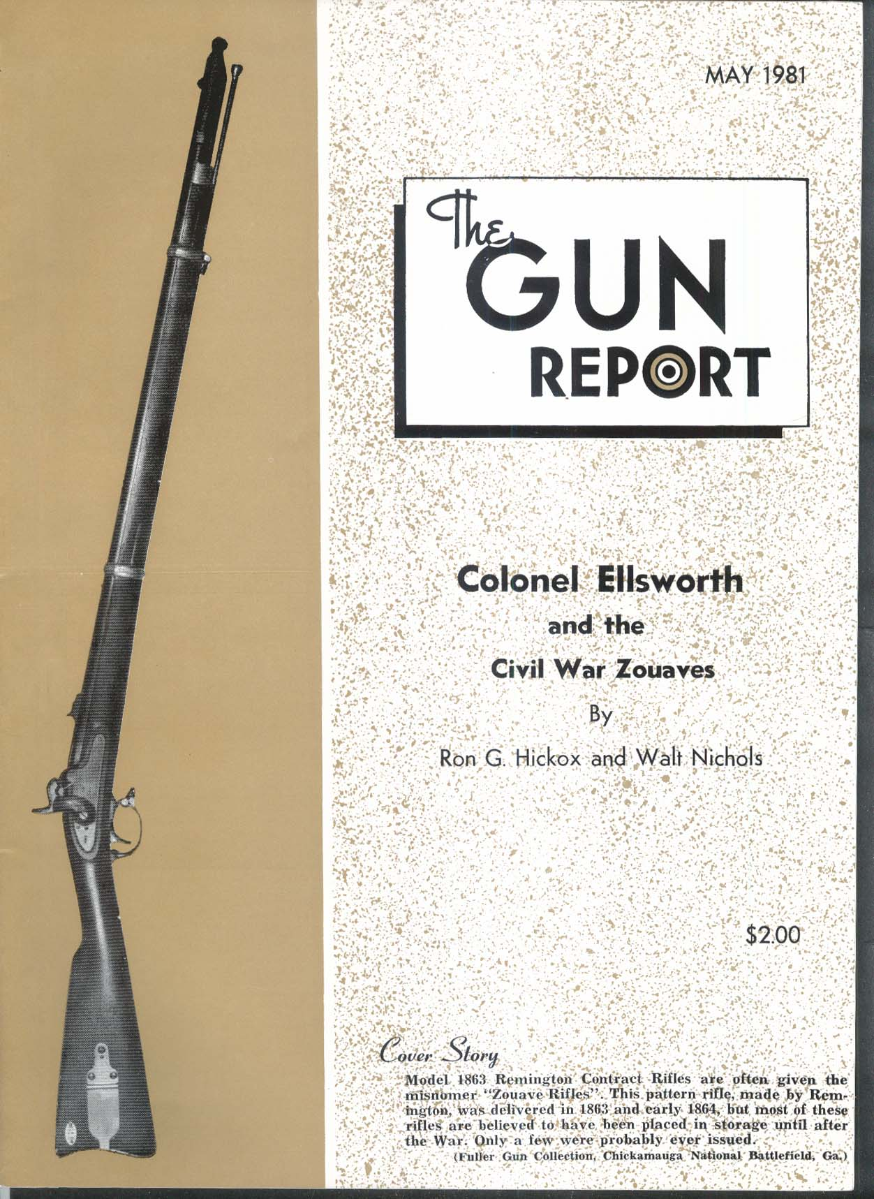 GUN REPORT Colonel Ellsworth Zouaves 1863 Remington Contract 5 1981