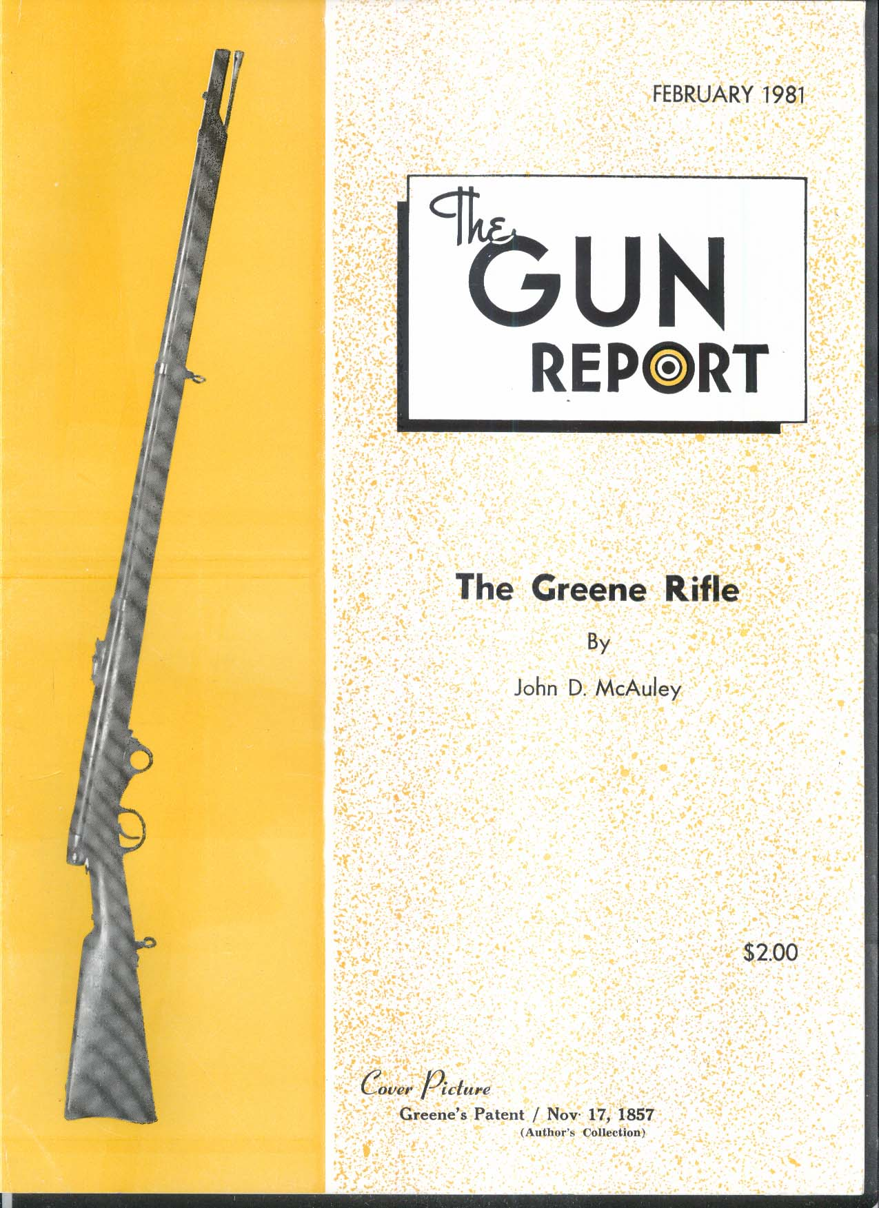 GUN REPORT Greene Rifle Peter Gonter + 2 1981