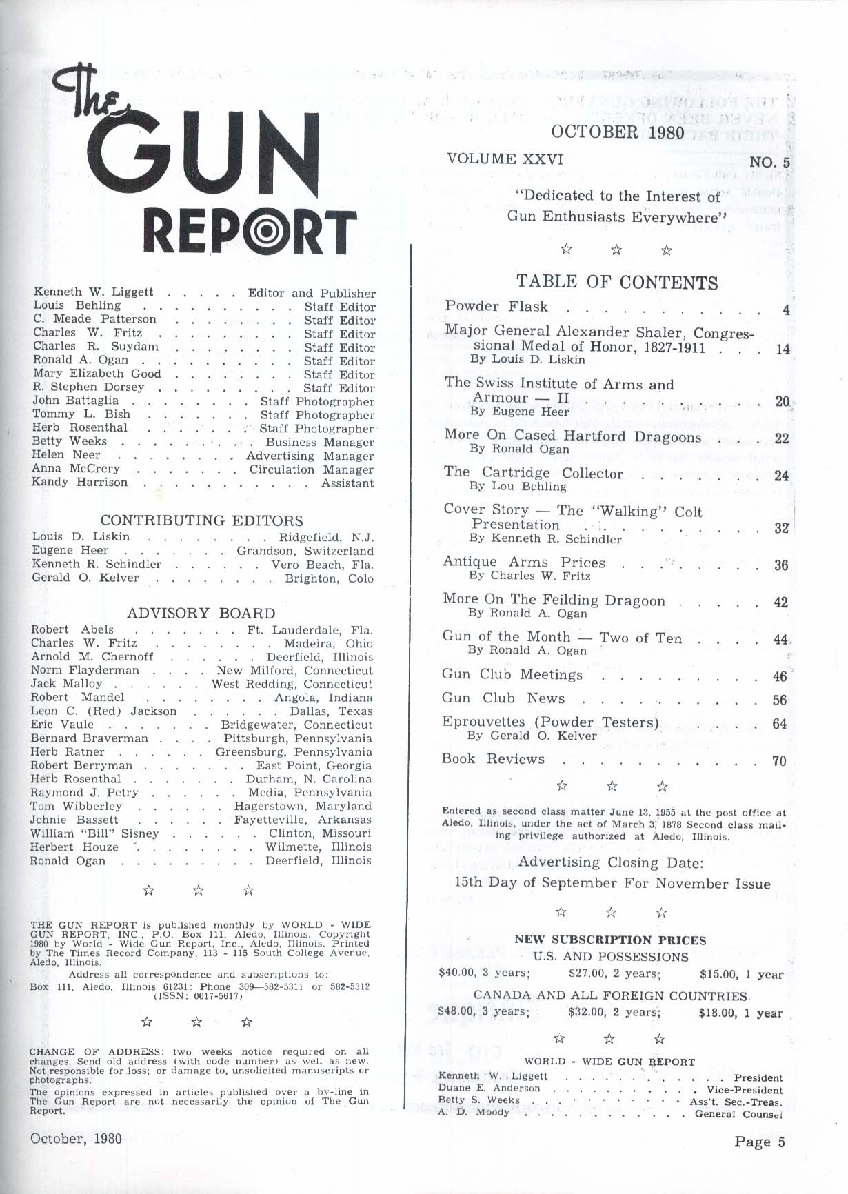 GUN REPORT Major General Alexander Shaler Colt Army Hartford Dragoon + 10 1980