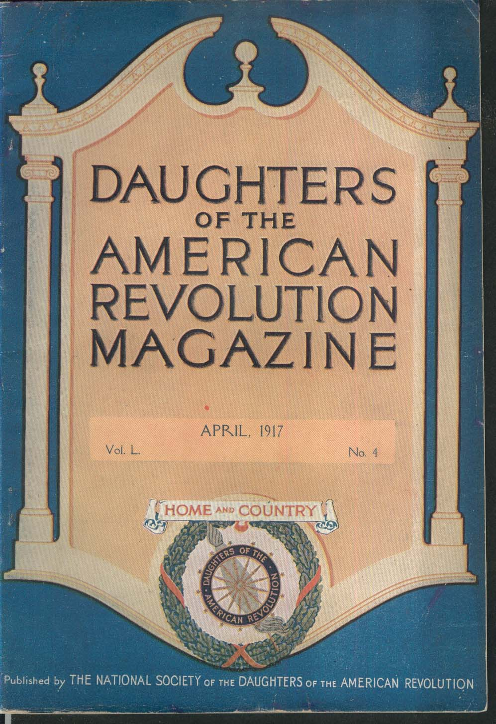 DAUGHTERS of the AMERICAN REVOLUTION Woodrow Wilson Hugh Mercer Antrim NH 4 1917