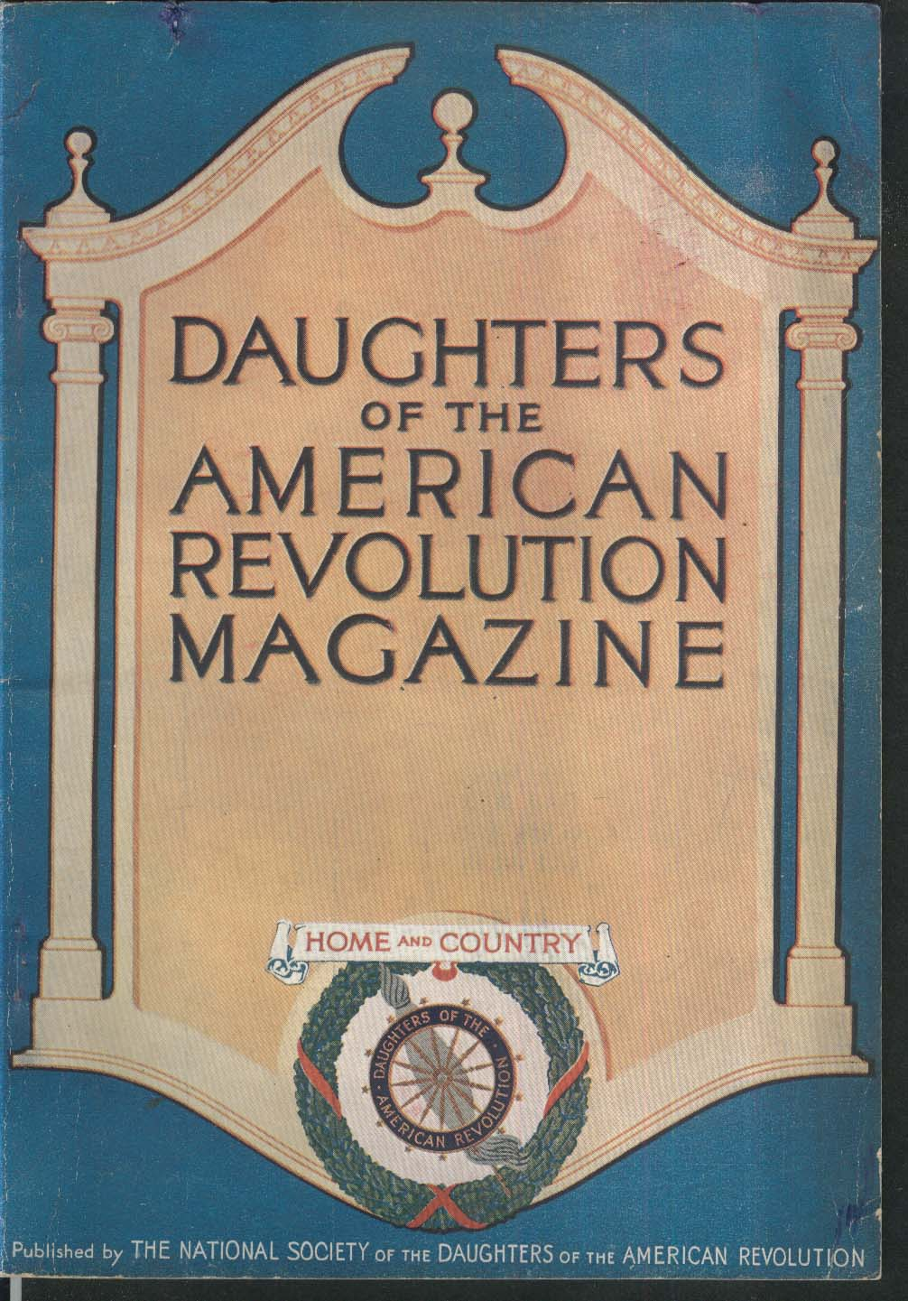 DAUGHTERS of the AMERICAN REVOLUTION Saint Memin Schuyler Holmes Sampson 12 1916