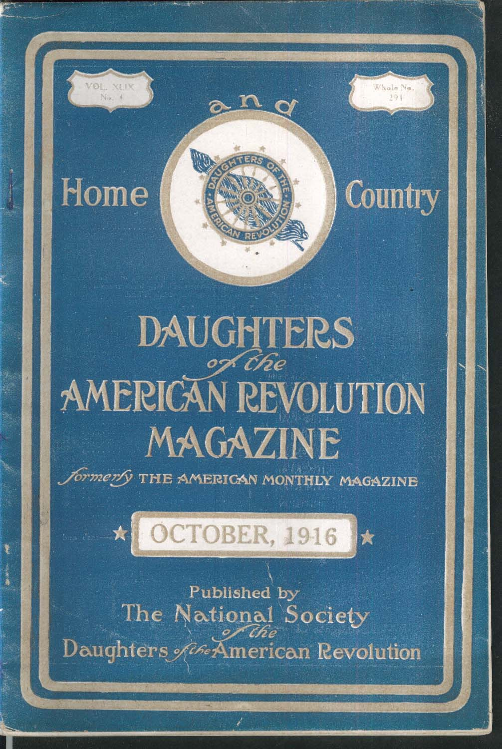 DAUGHTERS of the AMERICAN REVOLUTION Fairfax County Fort McHenry 10 1916