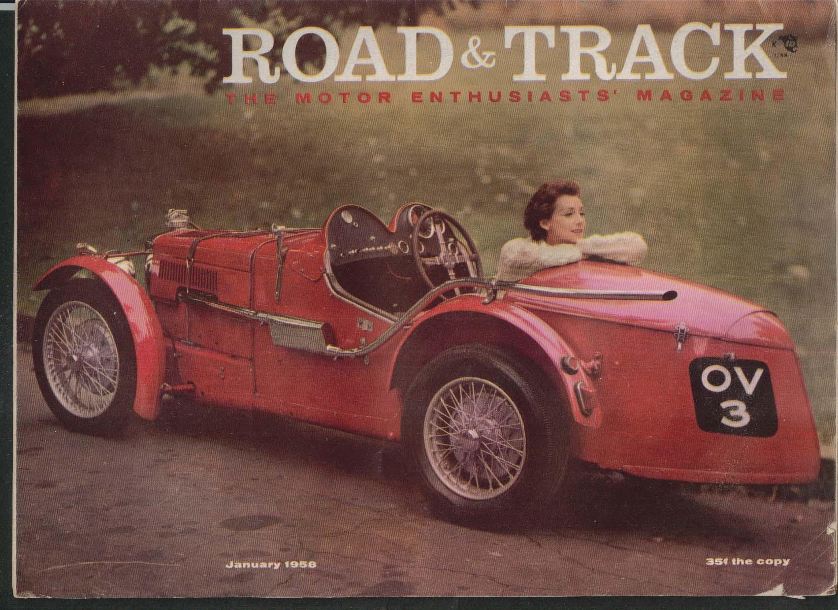 ROAD & TRACK Rolls-Royce Phanton III Mercedes 300-SL Vauxhall road tests 1 1958
