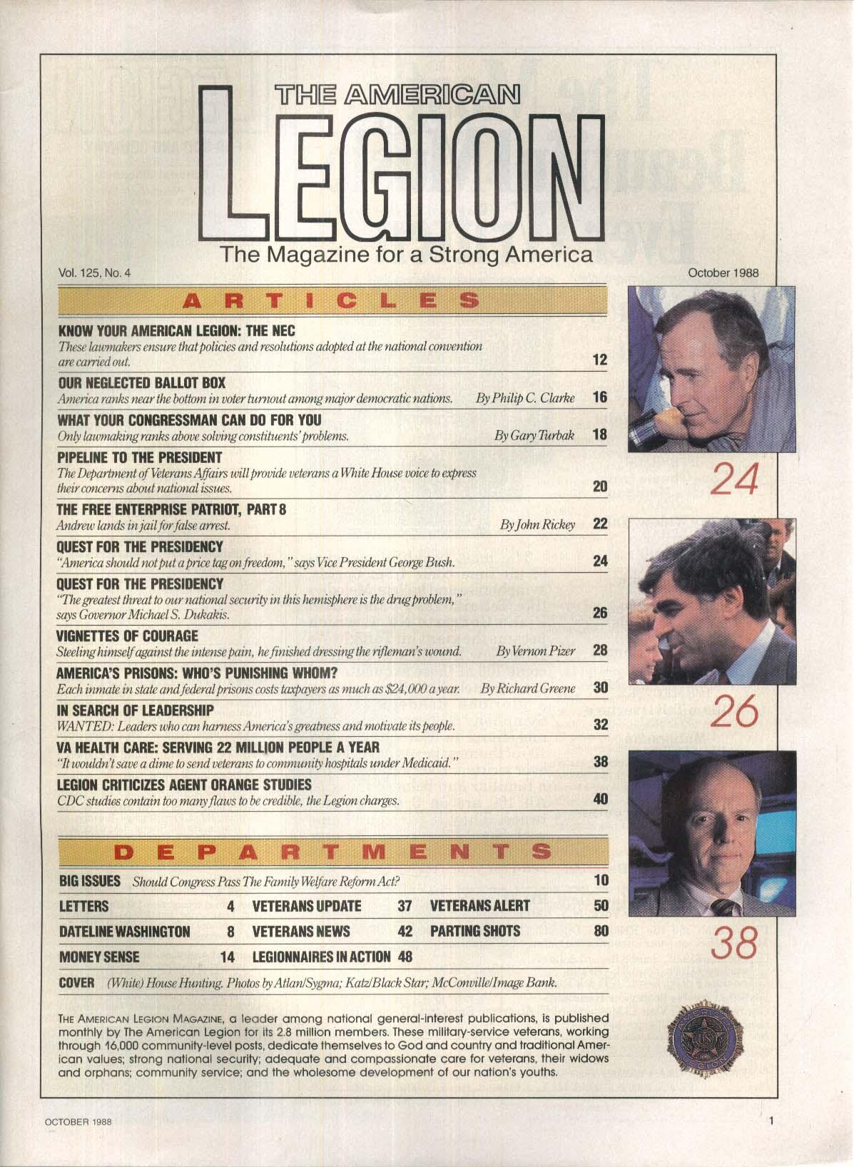 AMERICAN LEGION H F Sparky Gierke NEC George Bush 10 1988