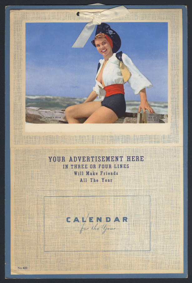 A Pirate's Dream pin-up calendar salesman's sample 1959