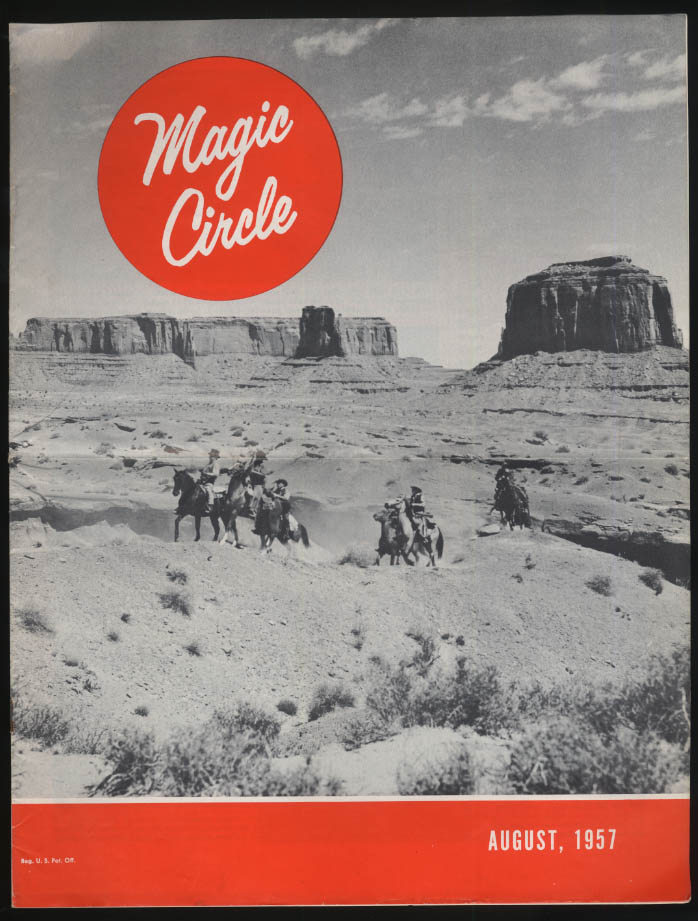 Perfect Circle MAGIC CIRCLE 8 1957  Art of Moving; Trailways Golden Eagle Bus