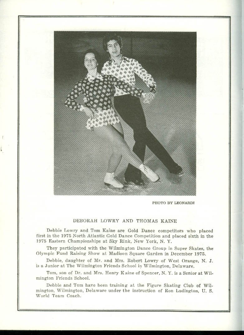 Cornell Figure Skating Club B-Ice Centennial Revue program 1976 Ithaca NY