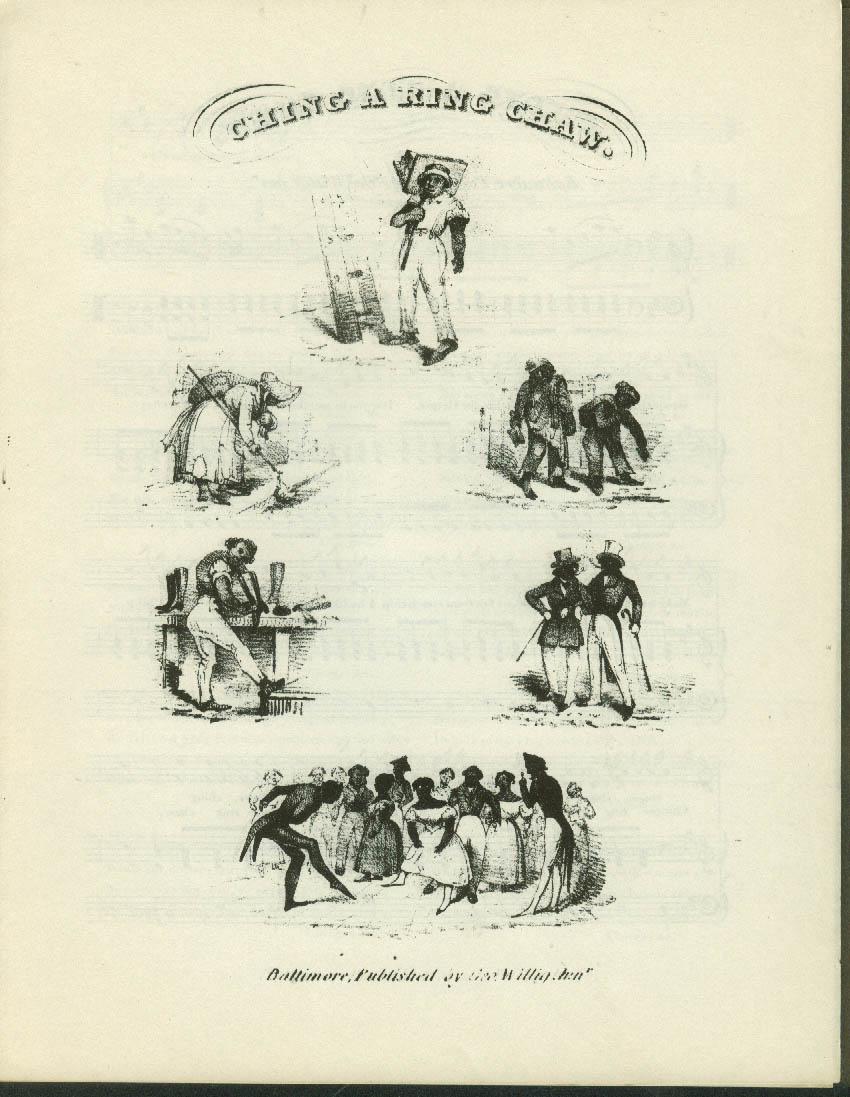 Ching a Ring Chaw black sheet music 1833 facsimile reprint Brown U 1960s