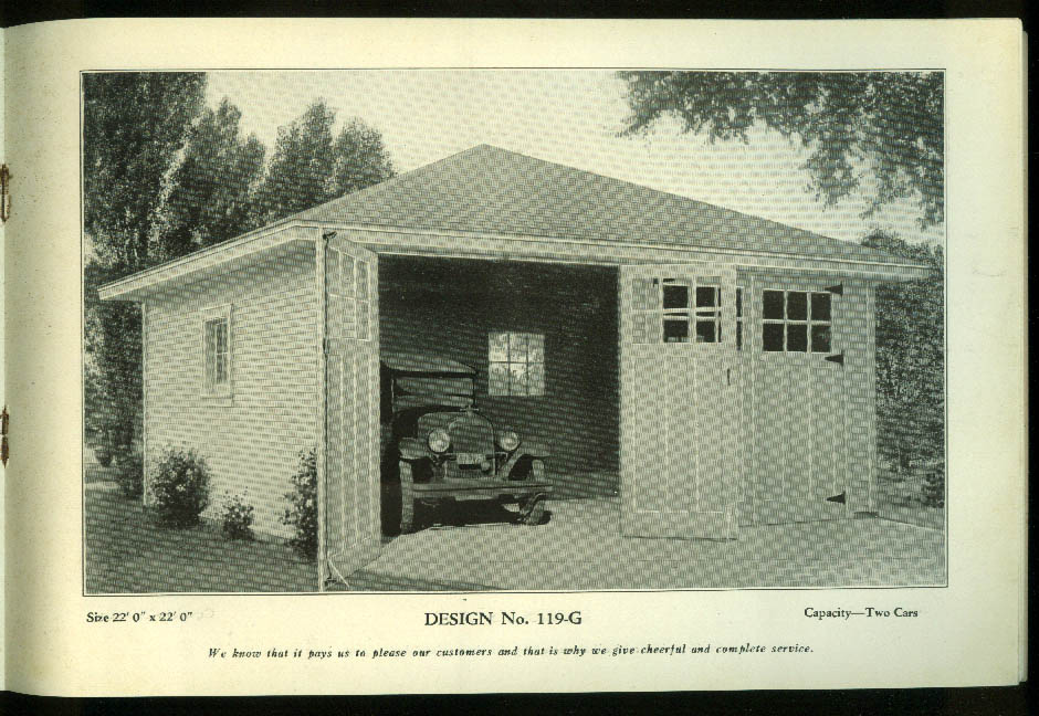 Our New Book of Garages plans book Enfield Lumber Thompsonville CT ca 1930s