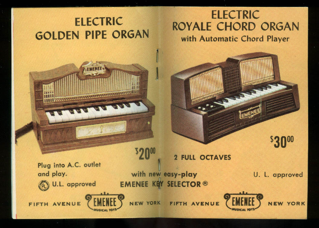 Emenee Musical Toys for Junior Musical Bands miniature catalog 1950s