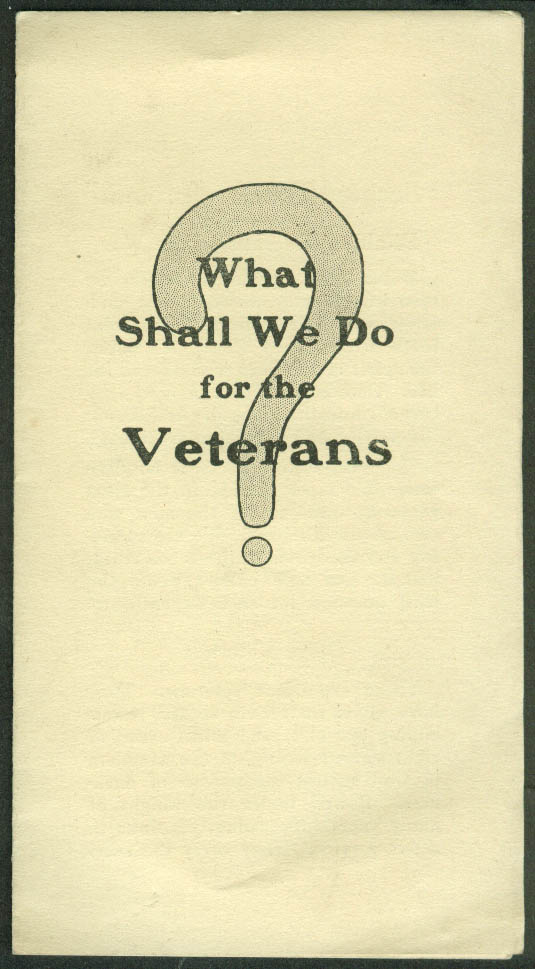 Congregational Board Ministerial Relief What Should We Do for Veterans? 1919