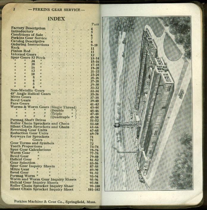 Perkins Machine & Gear Catalog #27 1927 Springfield MA
