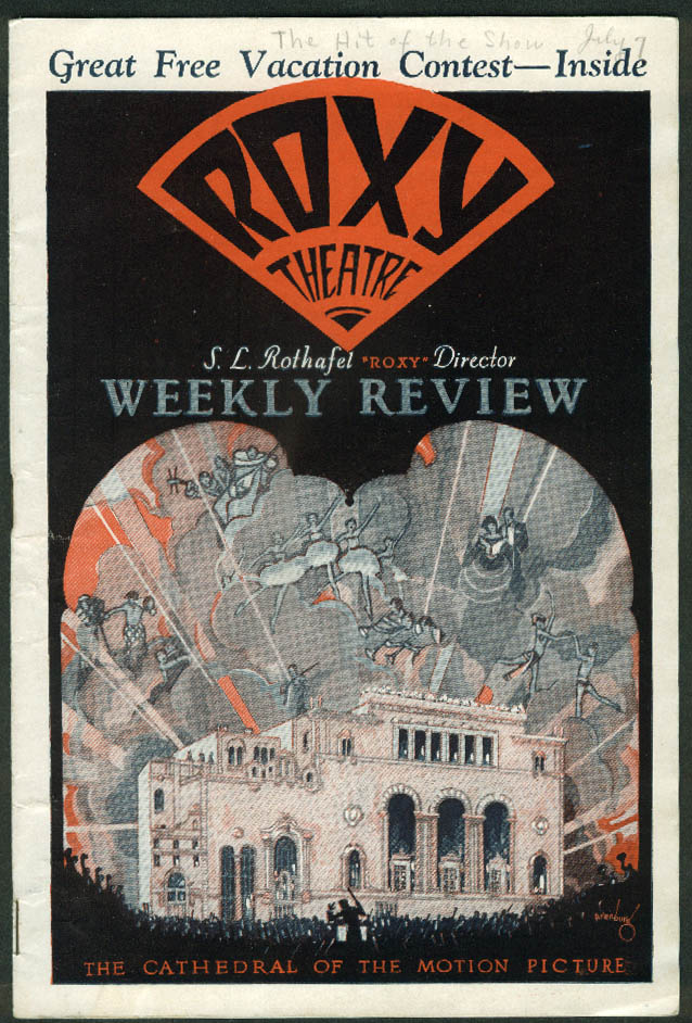 Roxy Theatre Weekly Review NYC 7/7 1928 Charles Farrell; Hit of the Show