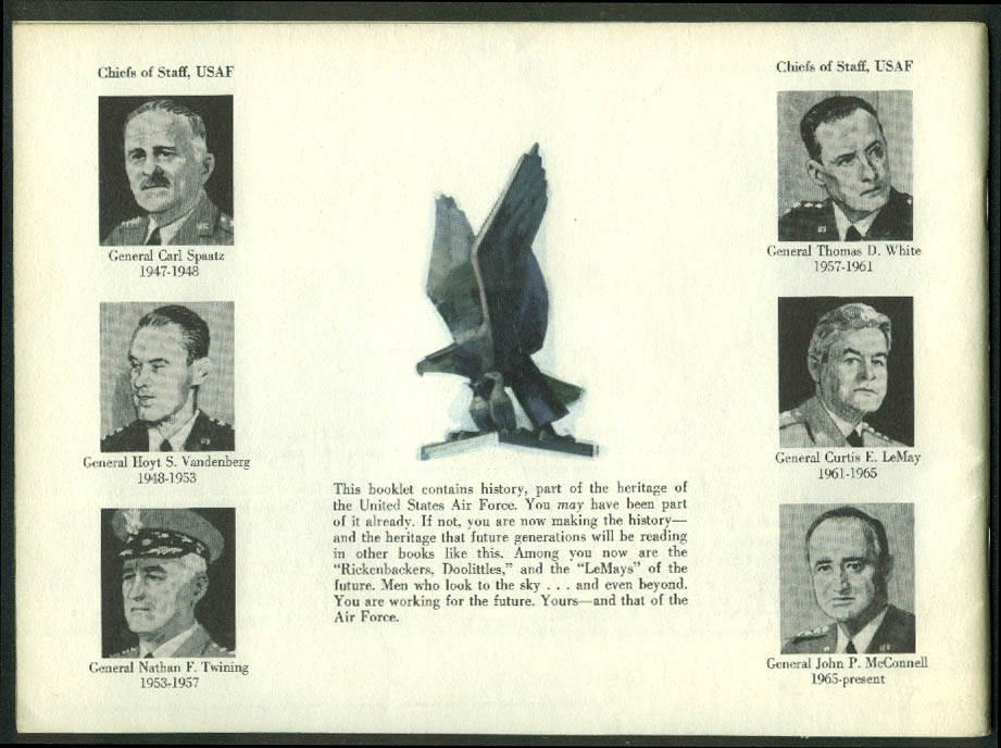 Of Flight & Bold Men US Air Force Recruiting Brochure 1968