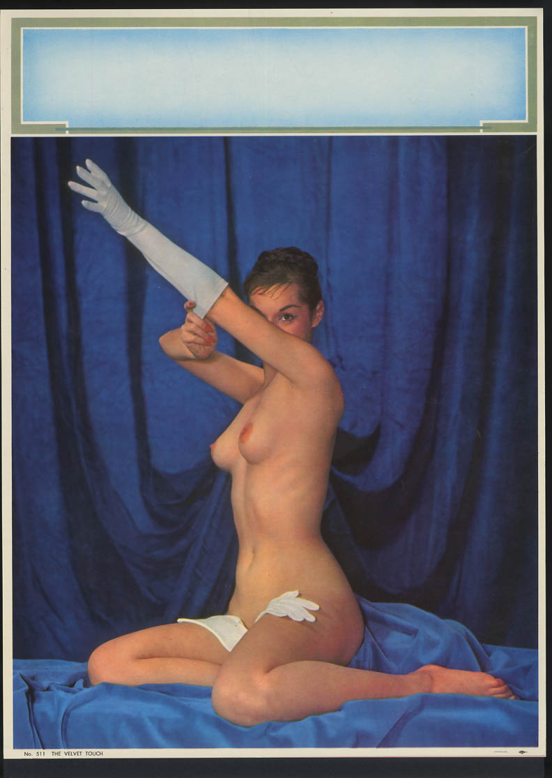 Image for The Velvet Touch pin-up calendar print #511 nude with evening gloves