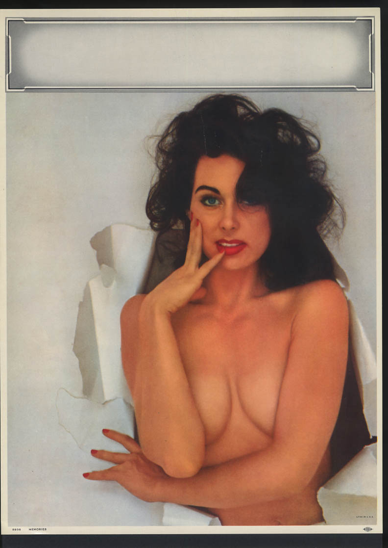 Image for Memories pin-up calendar print #8938 brunette elbows cover cleavage
