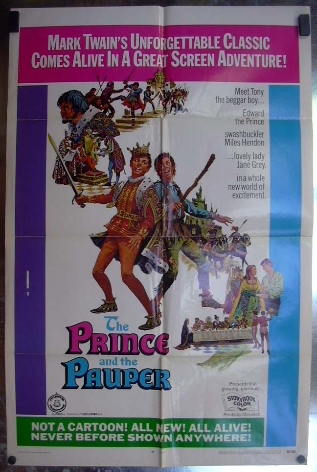 Image for The Prince & the Pauper 1969 one-sheet movie poster