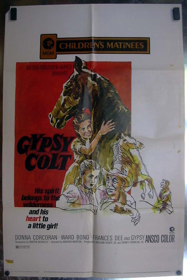 Image for Gypsy Colt 1971 one-sheet movie poster Donna Corcoran Ward Bond