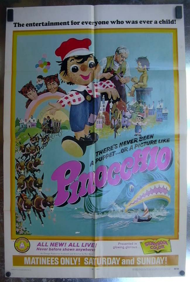 Image for Pinocchio 1968 one-sheet movie poster
