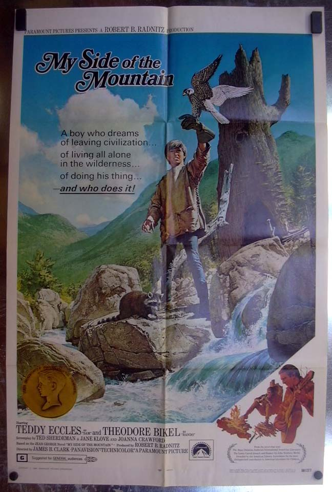Image for My Side of the Mountain 1968 one-sheet movie poster Teddy Eccles