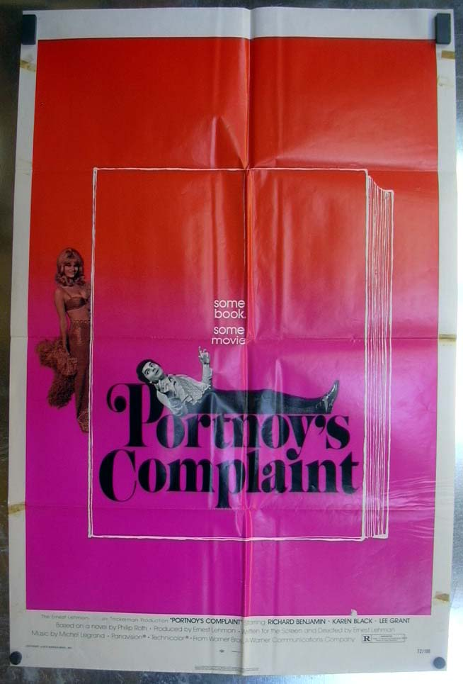 Image for Portnoy's Complaint 1972 one-sheet movie poster Richard Benjamin Karen Black