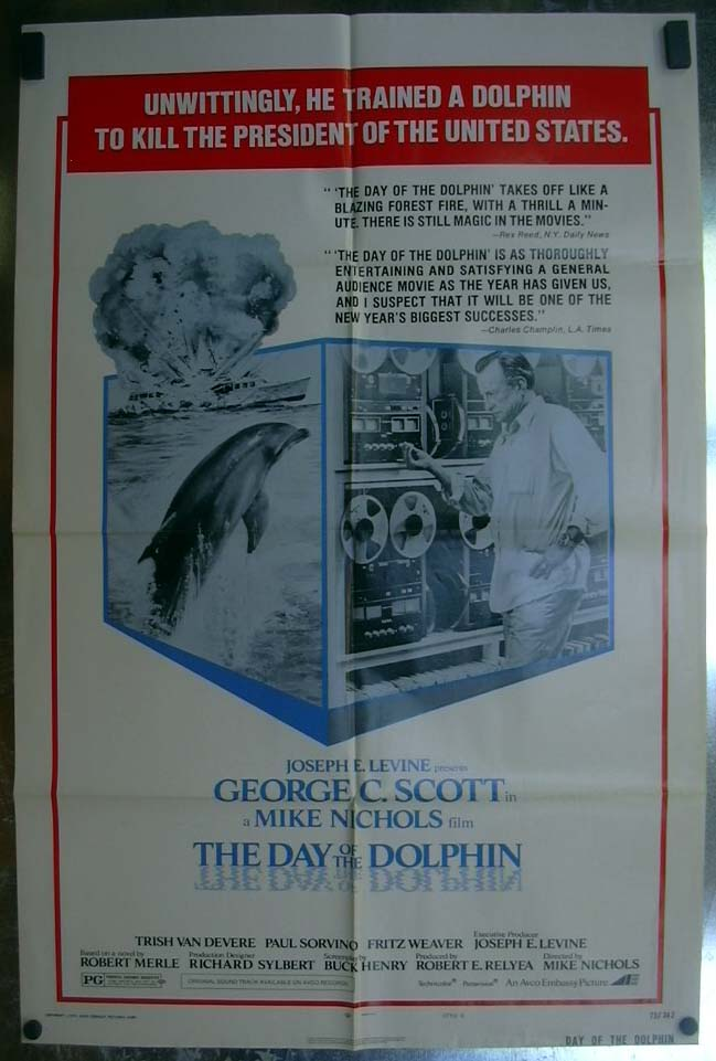 Image for The Day of the Dolphin 1973 one-sheet movie poster George C Scott