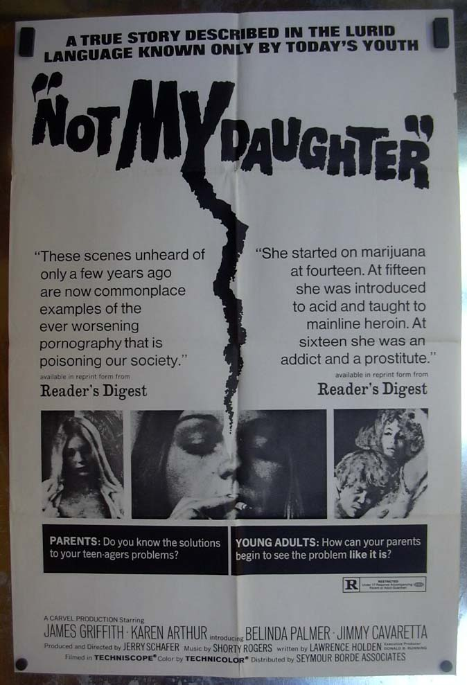 Image for Not My Daughter 1970 one-sheet movie poster Belinda Palmer