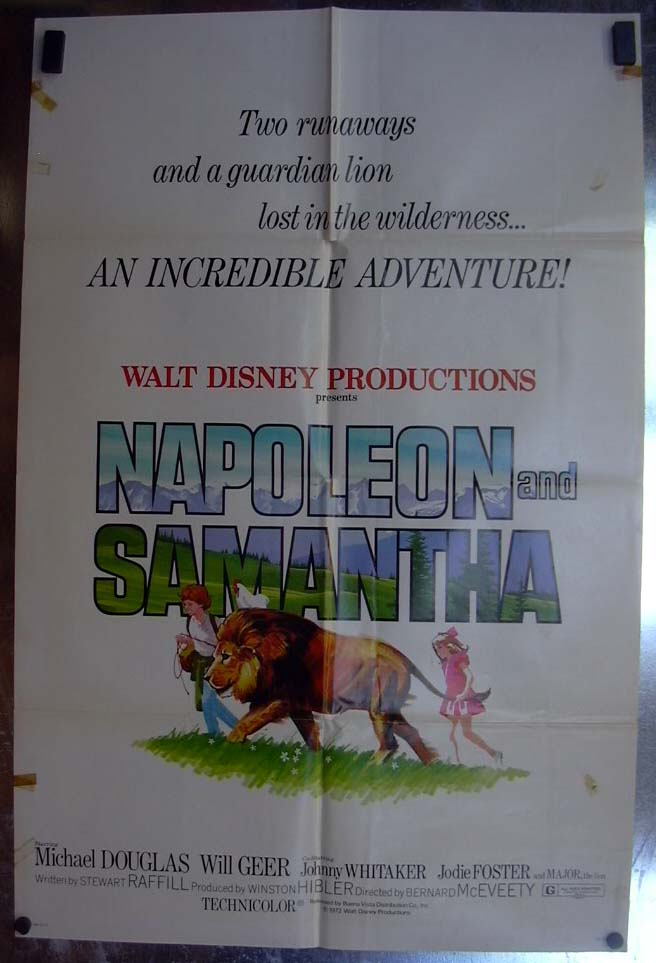 Image for Napoleon & Samantha 1972 one-sheet movie poster Michael Douglas