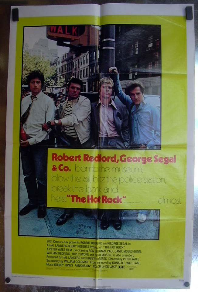 Image for The Hot Rock 1972 one-sheet movie poster Robert Redford George Segal