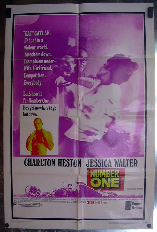 Image for Number One 1969 one-sheet movie poster Charlton Heston Jessica Walter