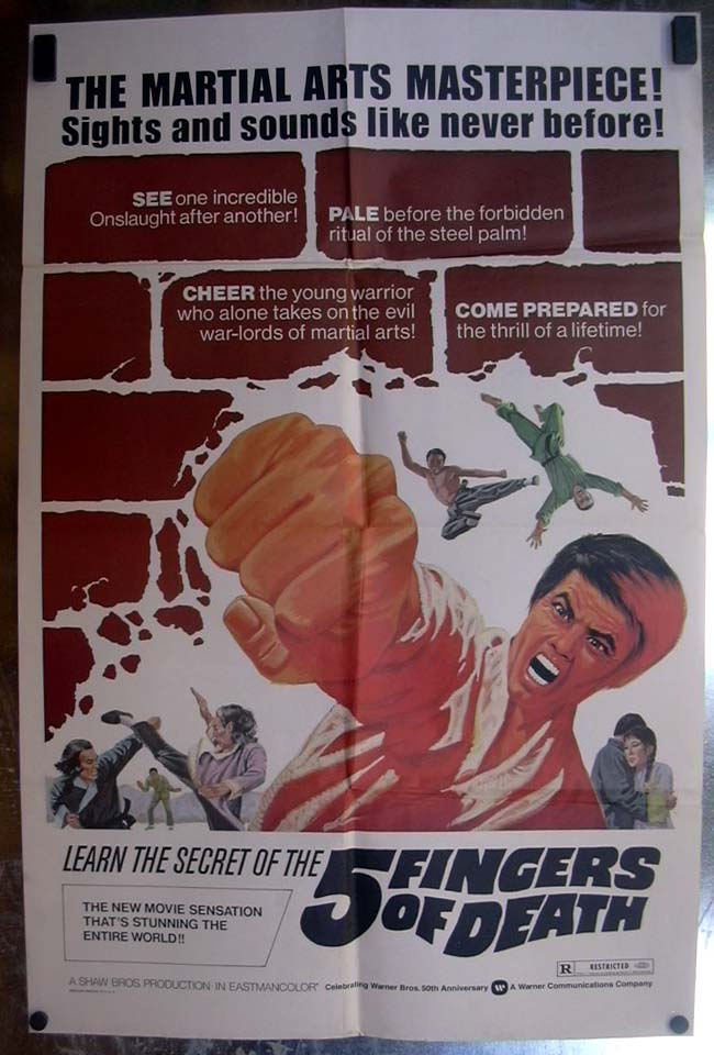 Five Fingers of Death 1972 one-sheet movie poster