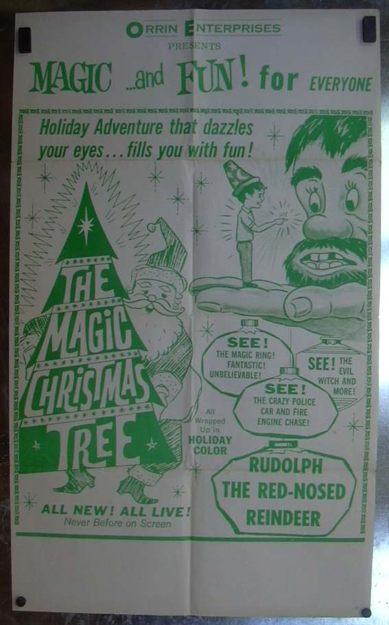 Image for The Magic Christmas Tree 1964 one-sheet movie poster
