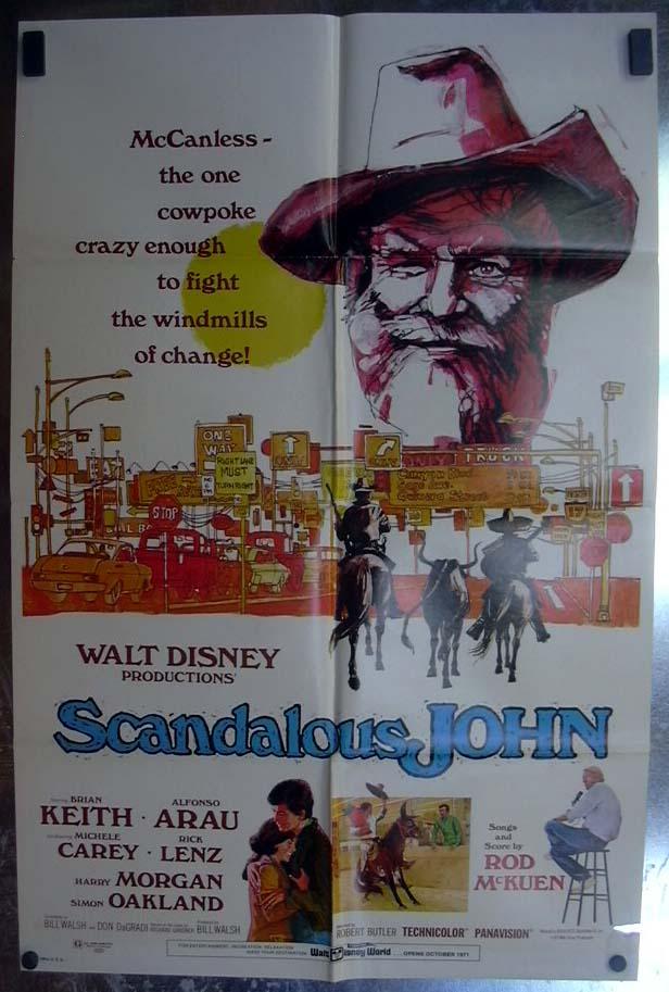 Scandalous John 1971 one-sheet movie poster Brian Keith