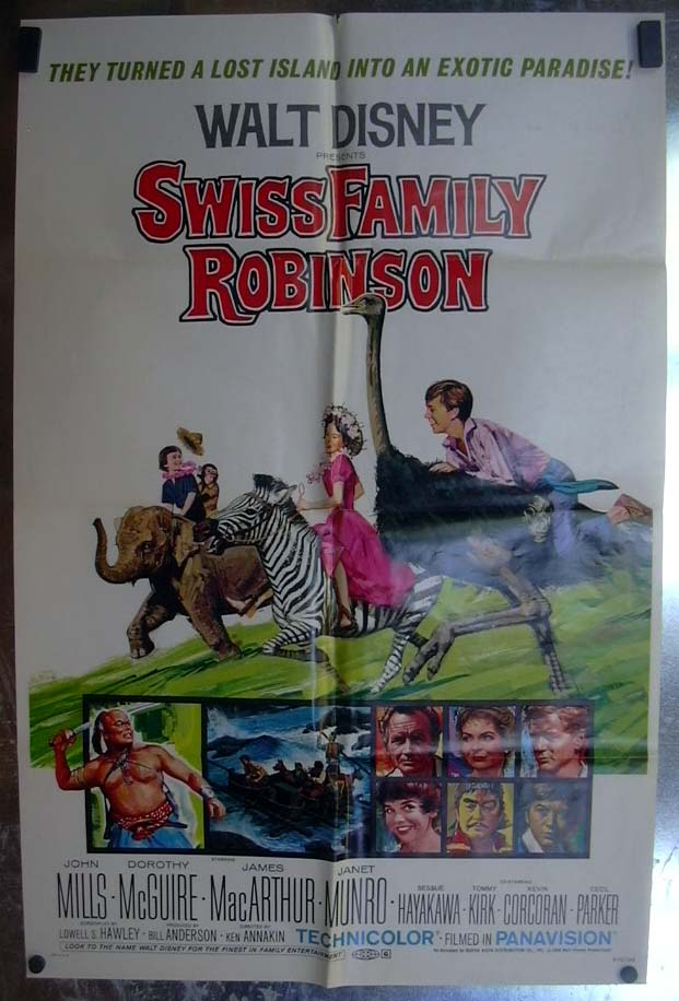 Swiss Family Robinson 1972 one-sheet movie poster