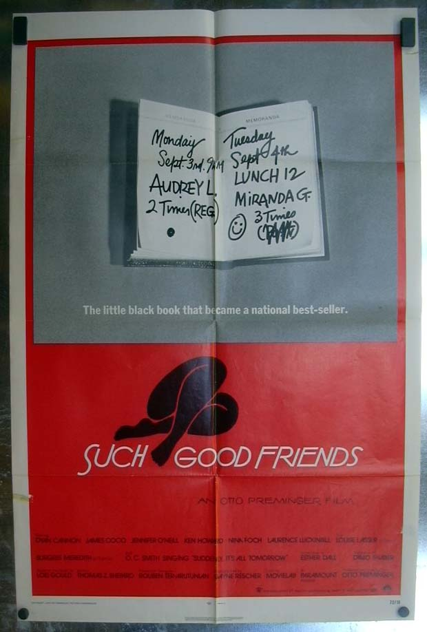 Such Good Friends 1972 one-sheet movie poster Otto Preminger