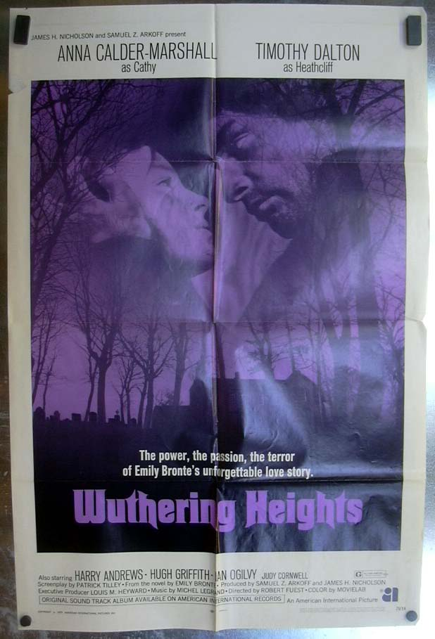 Wuthering Heights 1971 1-sheet movie poster Anna Calder-Marshall Timothy Dalton