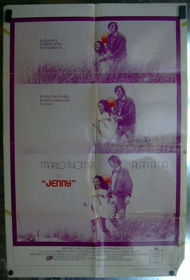 Jenny 1970 one-sheet movie poster Marlo Thomas Alan Alda