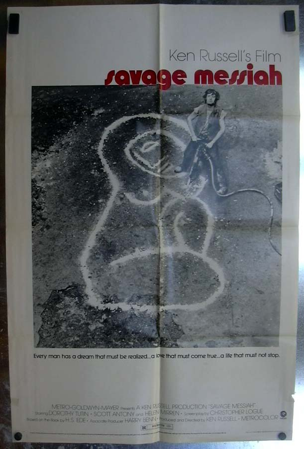 Ken Russell's Savage Messiah 1972 one-sheet movie poster