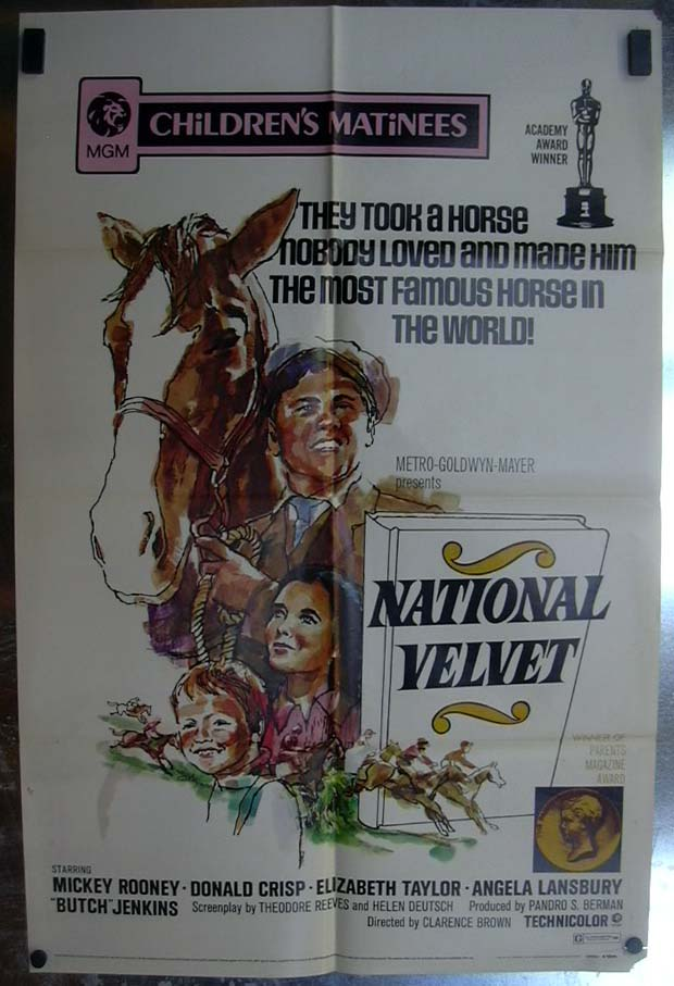 National Velvet 1971 one-sheet movie poster Mickey Rooney Elizabeth Taylor