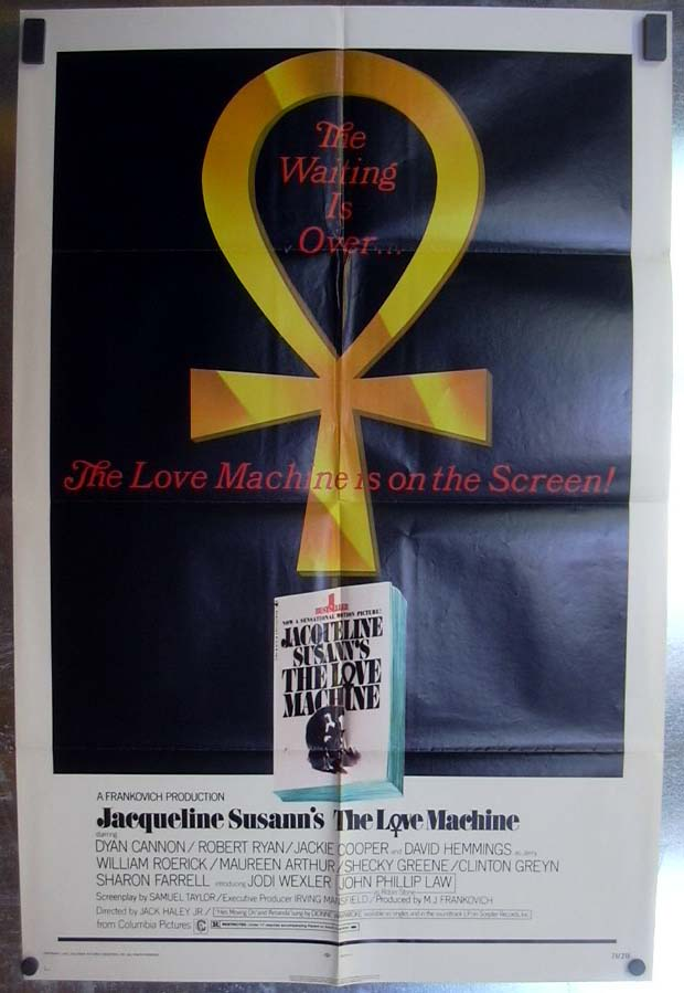 Jacqueline Susann's The Love Machine 1971 one-sheet movie poster