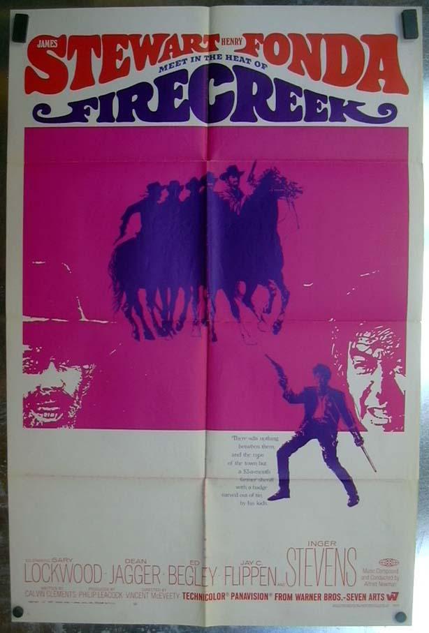 Firecreek 1968 one-sheet movie poster Jimmy Stewart Henry Fonda