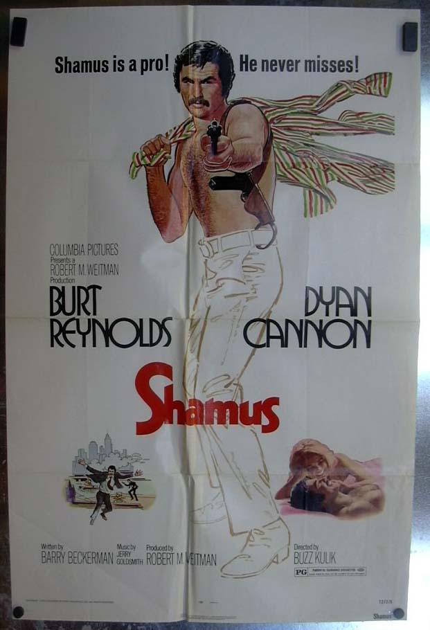 Shamus 1972 one-sheet movie poster Burt Reynolds Dyan Cannon
