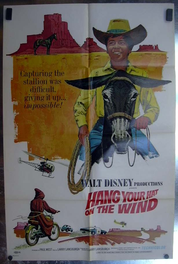 Hang Your Hat on the Wind 1969 one-sheet movie poster Rick Natoli