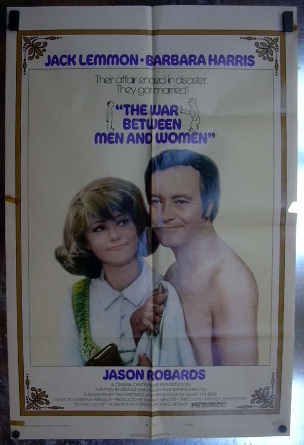 War Between Men & Women 1972 one-sheet movie poster Jack Lemmon Barbara Harris